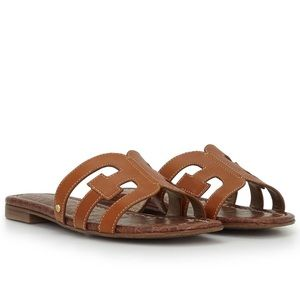 SAM EDELMAN Bay Slide Sandal in Saddle Leather